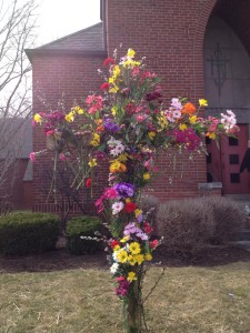 flowered cross